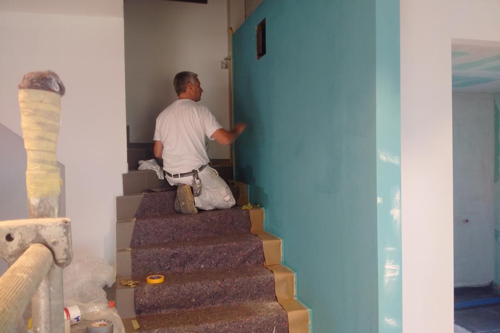 Die Maler sind am Werk.