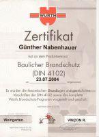 Baulicher Brandschutz (DIN 4102) [Juli 2004]