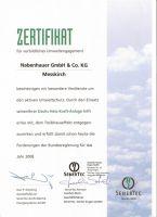 Firma Senertec Zertifikat für vorbildliches Umweltengagement