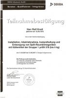 Teilnahmebstätigung DEKRA Lehrgang Split- Raumklimageräte [Sept. 2007]