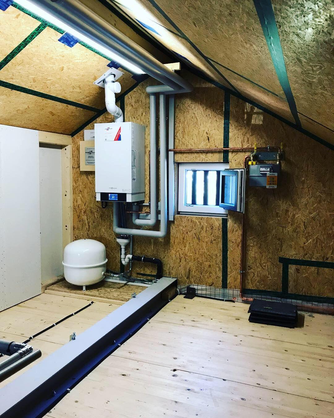 Gasheizung als Dachzentrale