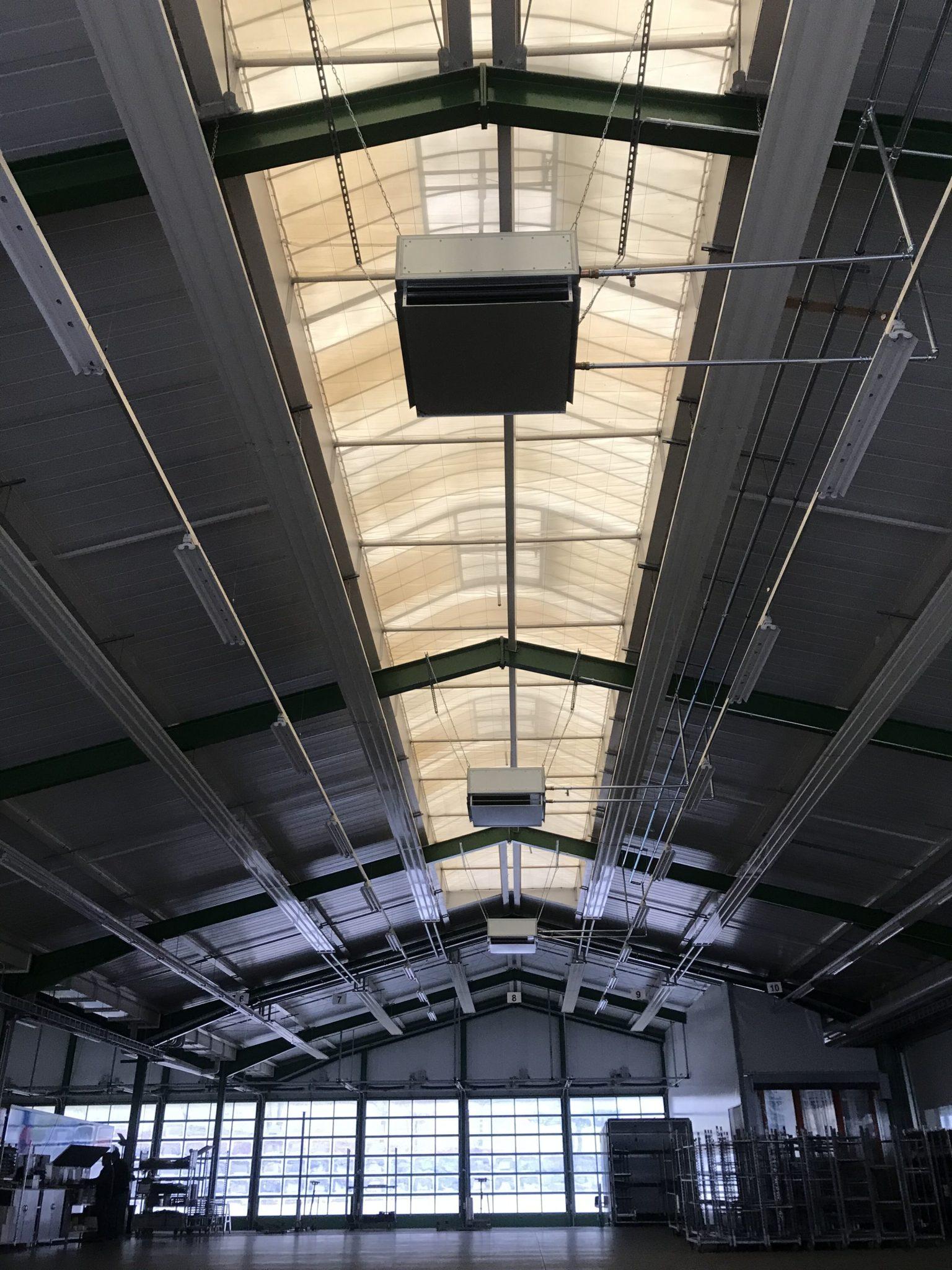 Lufterhitzer im Gewerbegebäude